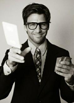 Men can look good in glasses too...