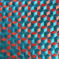 turquoise stars triaxial weaving