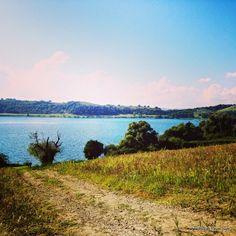 Martignano lake, Lazio, Italy Read more here: http://www.blocal-travel.com/2014/10/monterano-ghost-village-and-more.html