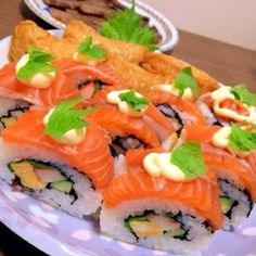 Salmon California Rolls