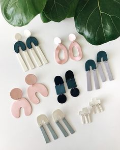 New arrivals. We are crushing hard on these handmade ceramic earrings by 😍 The post New arrivals. We are crushing hard on these handmade ceramic earrings by appeared first on Trendy. Diy Clay Earrings, Earrings Handmade, Handmade Jewelry, Unique Earrings, Diamond Earrings, Chain Earrings, Diy Jewelry, Jewelry Design, Jewelry Making
