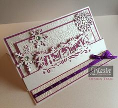 #Christmas #card created using Die'sire Edge'ables dies from #crafterscompanion. #festive #holiday