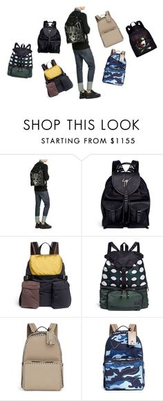"""Men's Backpacks"" by purnima0309 ❤ liked on Polyvore featuring Alexander McQueen, Giuseppe Zanotti, Marni, Valentino, Givenchy, men's fashion and menswear"