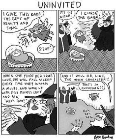 Premium Giclee Print: Uninvited -- a cartoon of a Sleeping Beauty parody, in which the c. - New Yorker Cartoon : meme amor-qdrxhvgkvi tjmesykbt tsvwzaxarn Funny Cute, The Funny, 4 Panel Life, Funny Jokes, Hilarious, Online Comics, New Yorker Cartoons, Batman, Funny Pins