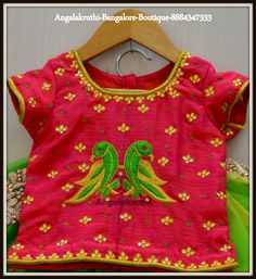 Embroidery Patterns For Kids Hand Embroidery Designs For Ba And Kids Dress. Embroidery Patterns For Kids Artishare Girls Dress 2017 Spring Princess Dr. Baby Lehenga, Kids Lehenga, Kids Blouse Designs, Designs For Dresses, Embroidery Designs, Hand Embroidery, Kids Ethnic Wear, Kids Dress Patterns, Blouse Patterns