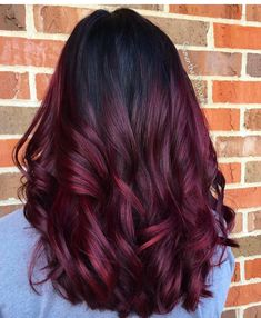 Balayage hair burgundy, balayage rojo, red purple hair, red ombre hair, r. Red Balayage Hair Burgundy, Red Purple Hair, Red Ombre Hair, Ombre Hair Color, Hair Color Balayage, Cool Hair Color, Burgendy Hair, Red Streaks In Hair, Perfect 10 Hair Color