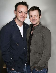 In a private civil ceremony that was kept quite even from close friends, Geordie duo Ant and Dec tied the knot in a Chiswick. Saturday Night Takeaway, Declan Donnelly, Ant & Dec, Britain Got Talent, Civil Ceremony, British Men, Tv Presenters, Celebs, Celebrities