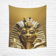 "Egypt King Tut Cotton Linen Wall Tapestry 51""x 60"""