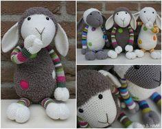 Suusje pattern by Stip & Haak Schaap Suusje by Stip & Haak - adorable crochet lamb amigurumi. Now I just have to learn how to read Dutch.Schaap Suusje by Stip & Haak - adorable crochet lamb amigurumi. Now I just have to learn how to read Dutch. Crochet Sheep, Crochet Patterns Amigurumi, Crochet Dolls, Knit Crochet, Crochet Animals, Crochet Crafts, Yarn Crafts, Sewing Crafts, Knitting Projects