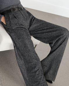 Image 4 of HERRINGBONE TROUSERS from Zara