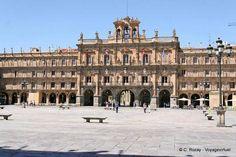 Façade de l'Ayuntamiento, Plaza Mayor, Salamanque - Espagne
