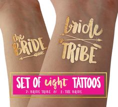 These metallic gold foil temporary tattoos (flash tattoos) are the PERFECT…