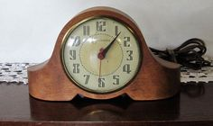 Art Deco Sessions Electric Clock Model 3W Wood Case 1930s Works Cracked Crystal #Sessions