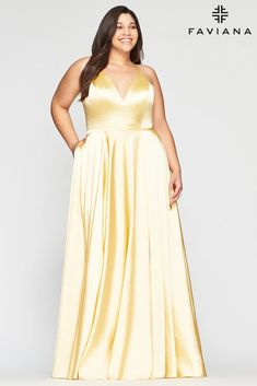 Faviana 9469 Prom Long Formal Plus Size Dress | The Dress Outlet Plus Size Long Dresses, Short Dresses, Long Evening Gowns, Evening Party, Dresses To Wear To A Wedding, Bridesmaid Dresses, Perfect Prom Dress, Dress Out, Prom Dresses Online