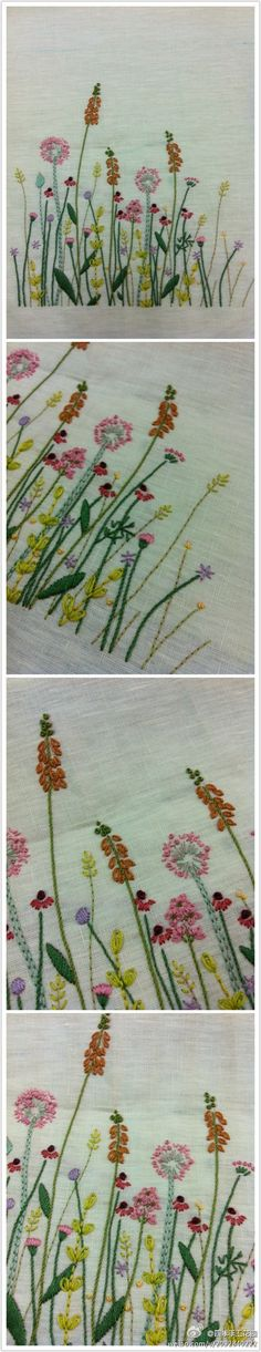 Embroidery examples of flowers just the picture the site is japanese