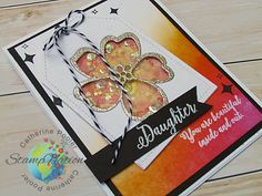 Inlaid Die Cut Shaker Card #stampnation #catherinepooler   www.catherinepooler.com/stampnation