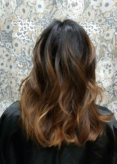 Hygge hair in brunette by Shana Montgomery owner of Fringe Theory Salon.