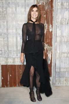 Carine Roitfeld at Givenchy Spring 2016 Ready-to-Wear Front Row Celebrity Photos - Vogue
