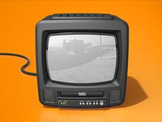 CRT + VHS = Double Obsolescence #illustration #design #inspiration
