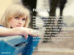 Forgive as you were forgiven- repeatedly and when it's not earned.