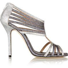 Oscar de la Renta Beth glitter-finished satin sandals (4 400 ZAR) ❤ liked on Polyvore featuring shoes, sandals, silver, oscar de la renta, satin shoes, cut-out shoes, glitter shoes and cutout shoes