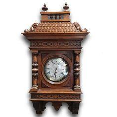 Pérové nástěnné hodiny  / www.aantik.cz / 19.století     Nový Antik Bazar - Starožitnosti | Kategorie produktu Dekorace