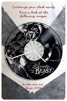 Beauty And The Beast Vinyl Clock Decor By Cheerly