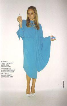 Chloe Sevigny in Martin Margiela blue dress