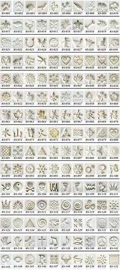 KS Stamps in Clay - A great assortment of tools for jewelry, PMC or any other craft project you would like to use it on.