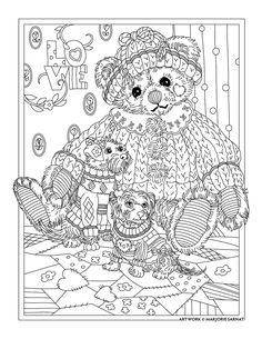 Bear Adult Coloring Pages - Bear Adult Coloring Pages, Bear Coloring Pages for Adults at Getdrawings Coloring Pages For Grown Ups, Bear Coloring Pages, Printable Adult Coloring Pages, Coloring Pages To Print, Colouring Pics, Coloring Books, Mandala Art, Colorful Pictures, Painting Patterns