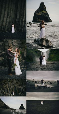 Iceland Elopement - Wear Your Love - Charis Rowland Photography - plane crash - black sand beach - Vik - Skogafoss