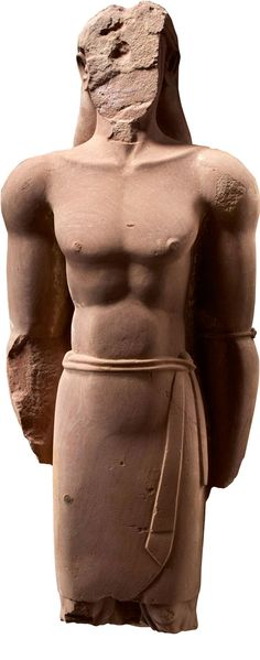 Statue of a Man 4th-3rd Century BCE ~ This is one of several examples found in the Lihyanite Temple of Dedan, Arabia.  These were identified as kings of the Lihyanite dynasty.