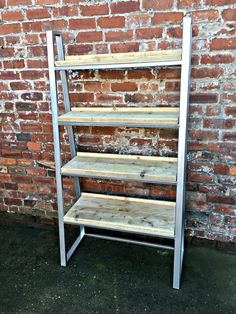 Industrial Chic Reclaimed Custom Steel and Wood Trapezium
