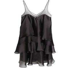 Parlor - Lolita Dress Black ($540) ❤ liked on Polyvore featuring dresses, layered dress, transparent dress, black embellished dress, short ruffle dress and see through dress