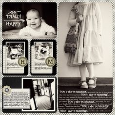 Love the small photo+journaling+monogram style. Also the all BW week. Matthew has been wanting me to do this!