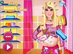 Disney Princess Barbie - Messy Pregnant Barbie - Games For Girls