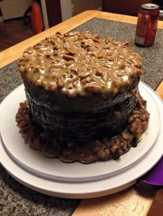 New Orleans Double-chocolate Praline-fudge Cake Cake Cookies, Cookies Et Biscuits, Cupcake Cakes, Just Desserts, Delicious Desserts, Cake Recipes, Dessert Recipes, Fudge Cake, Elegant Cakes