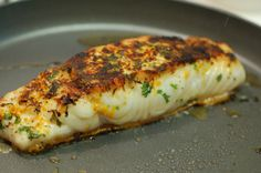 Halibut with Orange Butter Sauce
