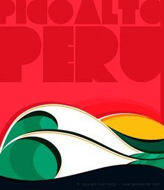 pico alto peru, surf art