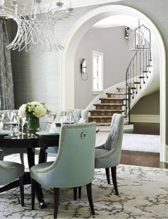 Understated elegance in this dining room