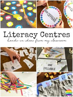 literacy centres, literacy centers, literacy centre ideas, literacy center ideas, teaching alphabetically order, compound words, phonograms, teaching phongrams through play, teaching phonograms with play, sight words, sight word splat, syllable work, syllable sorting, printables for literacy centers, charades as a literacy center, sorting sight words, sorting tricky words, learning through play, cvc words, using cvc words in play, sorting words by beginning sounds, sorting rhyming words…
