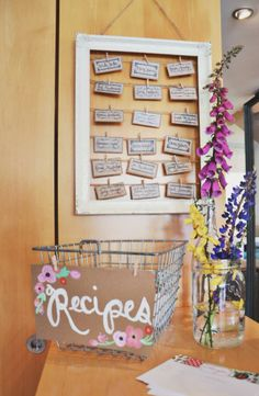 "wedding shower recipes for the bride to be - I like this idea, but change ""look"" to match theme"