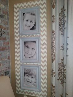Chevron Stencil on photo gallery background by Heather Gibson | Royal Design Studio
