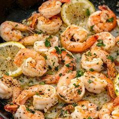 Garlic Butter Shrimp Scampi is so quick and easy! A garlic buttery scampi sauce with a hint of white wine & lemon in less than 10 minutes! Garlic Butter Shrimp Scampi can be enjoyed as an appetizer/light appetizers light Shrimp Recipes Easy, Seafood Recipes, Pasta Recipes, Dinner Recipes, Cooking Recipes, Healthy Recipes, Keto Recipes, Cajun Cooking, Dinner Ideas