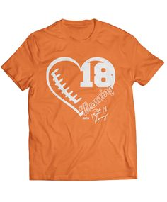 Denver Broncos NFL Football Sports Apparel - The perfect gift, gear, or clothing for true Broncos fans who love Peyton Manning! - You know this love is true! Show the world who your heart belongs to with this super cute LIMITED EDITION fan gear!