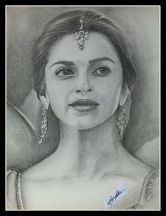 Portrait Sketches, Art Sketches, Fine Art Drawing, Celebrity Drawings, Pencil Art Drawings, Deepika Padukone, Art Boards, Artsy Fartsy, Graphite
