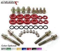 RACING Engine Valve Cover Washers Bolts Kit JDM  HONDA B-Series H-Series TYPE R