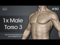 Zbrush Sculpting - 1x Male Torso 3 - YouTube