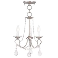 Livex Lighting Pennington Brushed Nickel Convertible Chain Hang/Ceiling Mount 6513-91