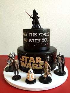 Star Wars birthday cake. Made with Cake Couture fondant.